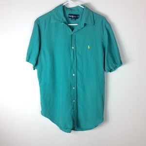 Ralph Lauren Classic Fit Teal Button Up Shirt M